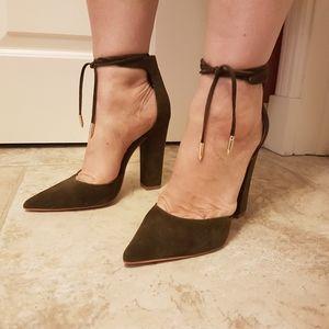 Fashion Nova Army Green Heels